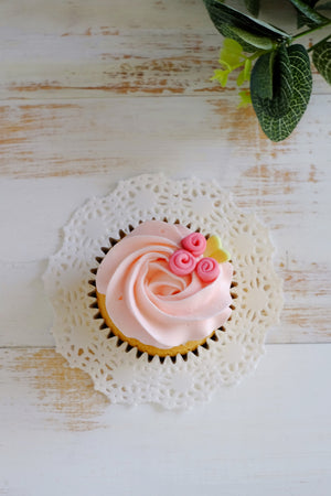Ribbon Rose Cupcakes (6 / 12 Pcs)