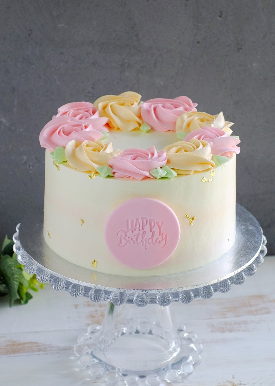 Spring Garden Rosette Cake (Next Day Collection)