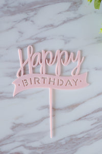 Baby Pink Acrylic Topper