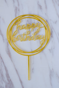Gold Acrylic Topper