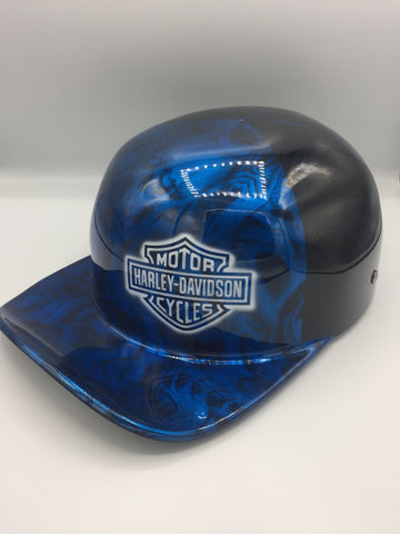 Hybrid Doughboy (Custom Painted & Hydrodipped) - Harley Davidson Shield & Blue Hydrodip
