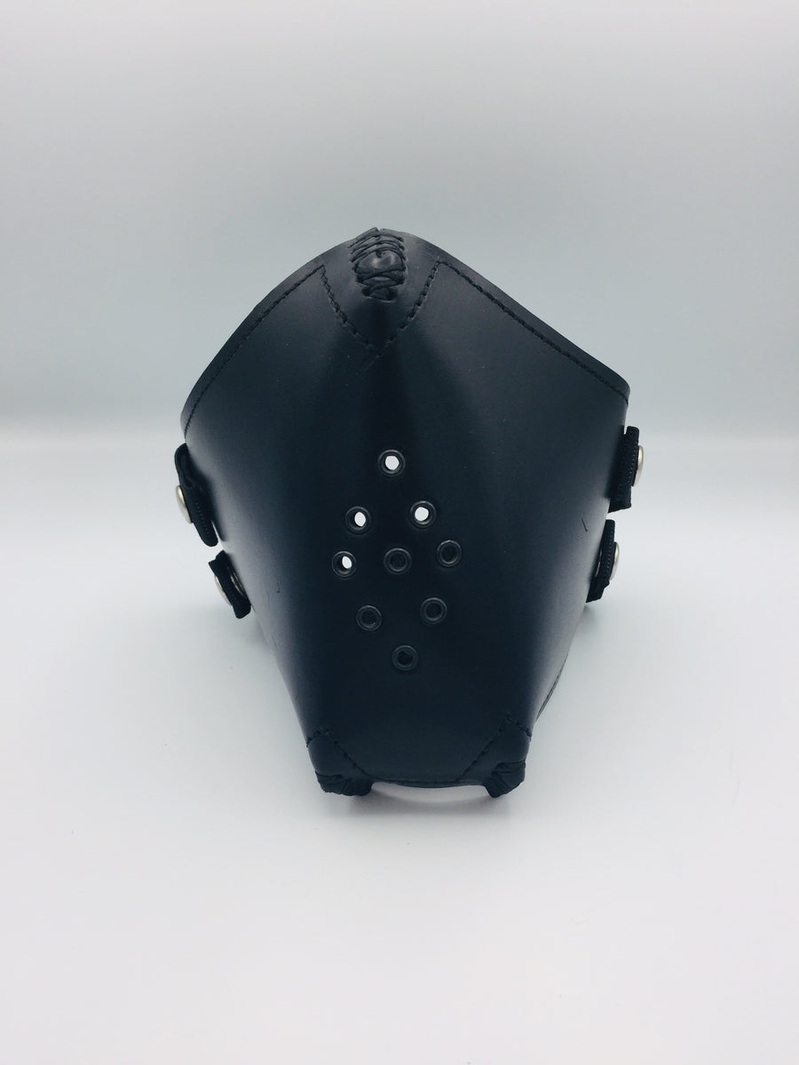 Face Mask - Black Leather