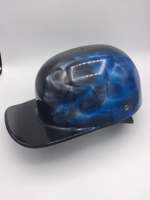Custom Painted Doughboy Lid - Blue Flame Skull