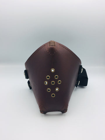 Face Mask - Brown Leather
