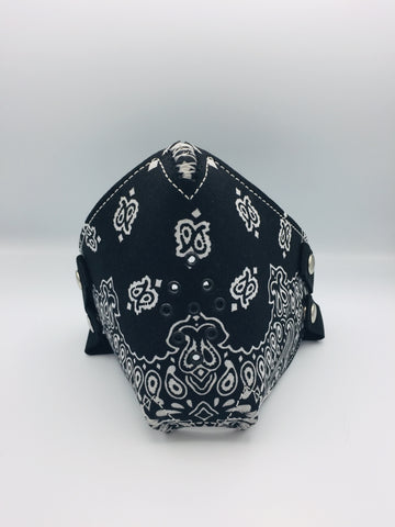 Face Mask - Black Bandana