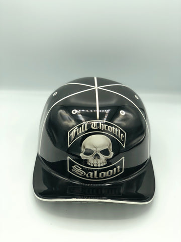 Custom Painted Doughboy Lid - Full Throttle Black