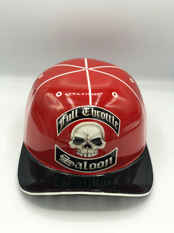 Custom Painted Doughboy Lid - Full Throttle Red