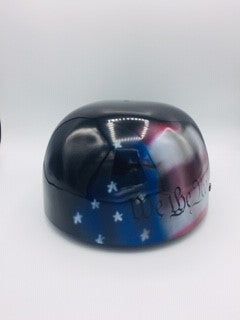 Custom Painted Doughboy Lid - American Flag