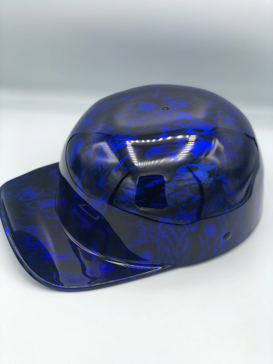 Hydrodipped Doughboy Lid - Gangster Skulls Blue