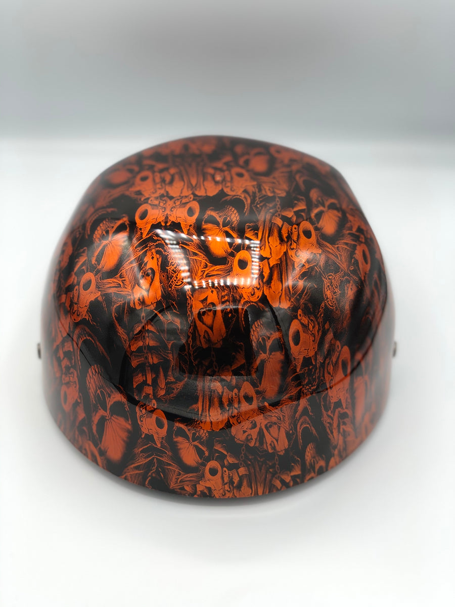 Hydrodipped Doughboy Lid - Gangster Skulls Orange (Not in Stock! More being dipped!)
