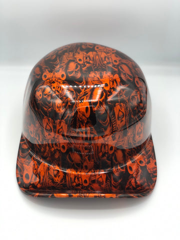 Hydrodipped Doughboy Lid - Gangster Skulls Orange