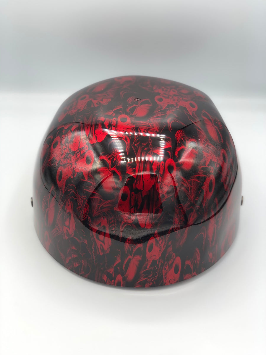Hydrodipped Doughboy Lid - Gangster Skulls Red (Not in Stock! More being dipped!)