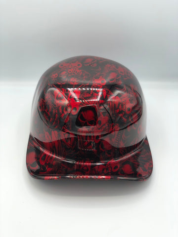 Hydrodipped Doughboy Lid - Gangster Skulls Red