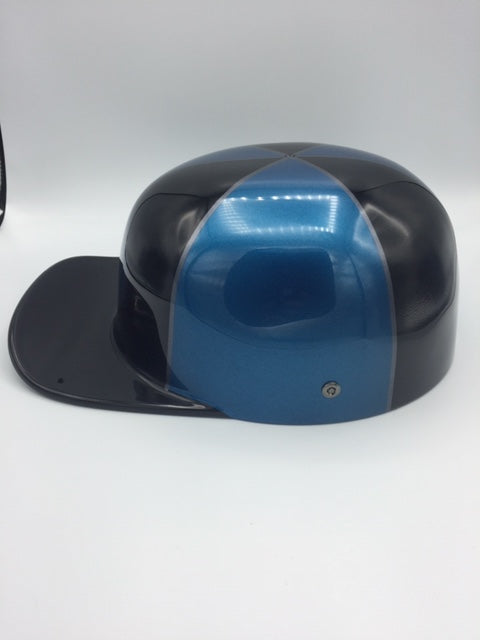 ***SOLD***Custom Painted Doughboy Lid - Blue and Black Harley Davidson