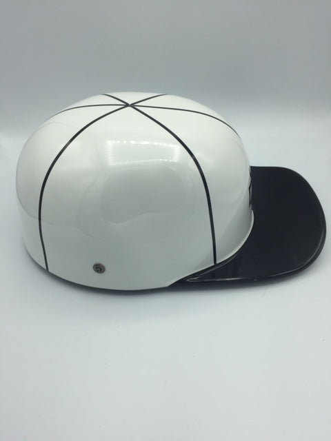 Custom Painted Doughboy Lid - Black and White Harley Shield and Patch
