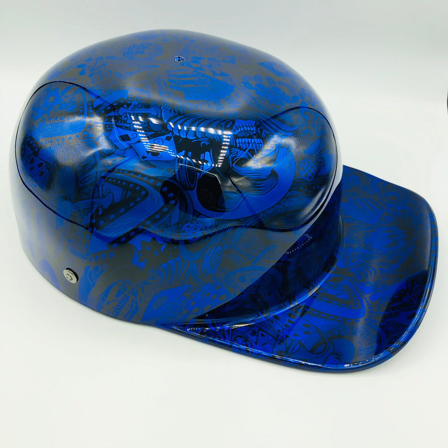 Hydrodipped Doughboy Lid - Blue Gambler (Not in Stock! More being dipped!)