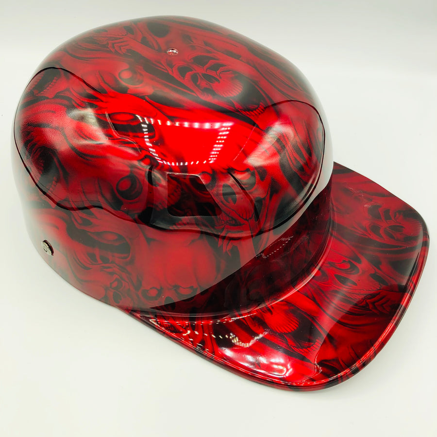 Hydrodipped Doughboy Lid - Red Hear No Evil
