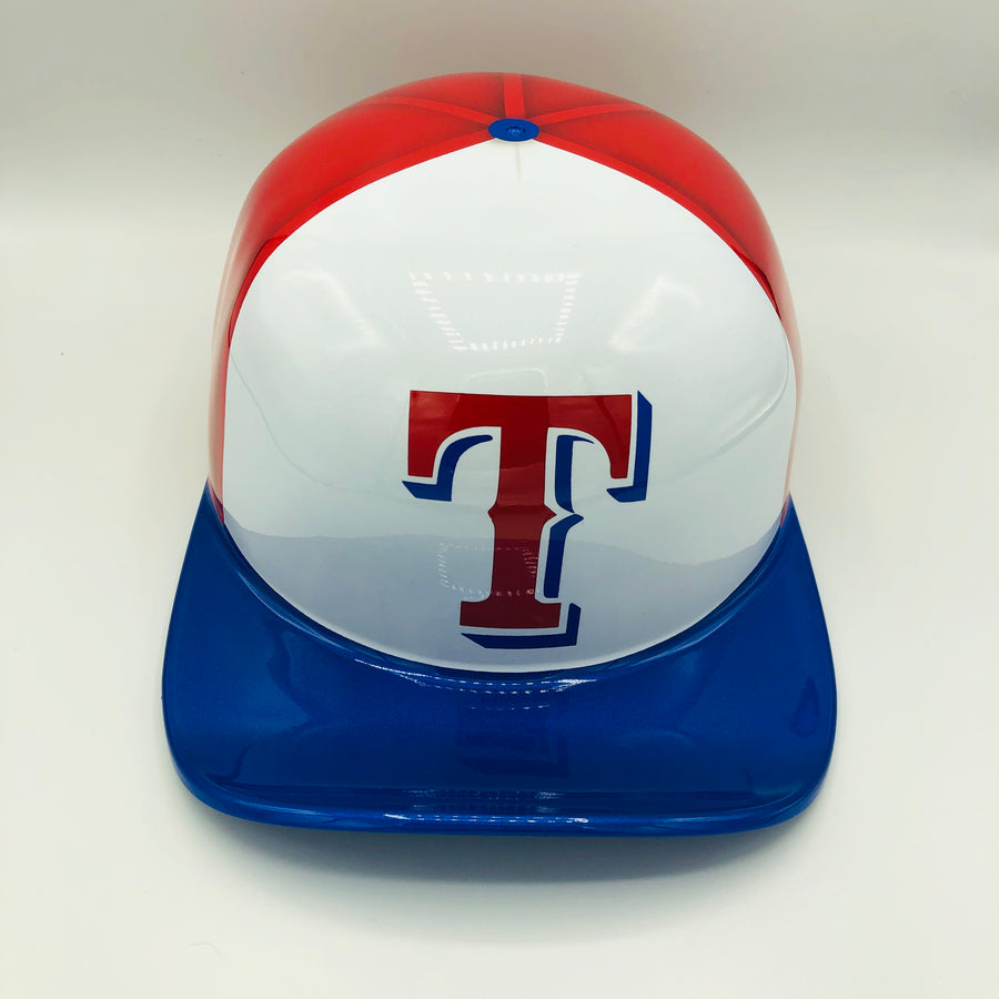 ***SOLD***Custom Painted Doughboy Lid - Texas Rangers