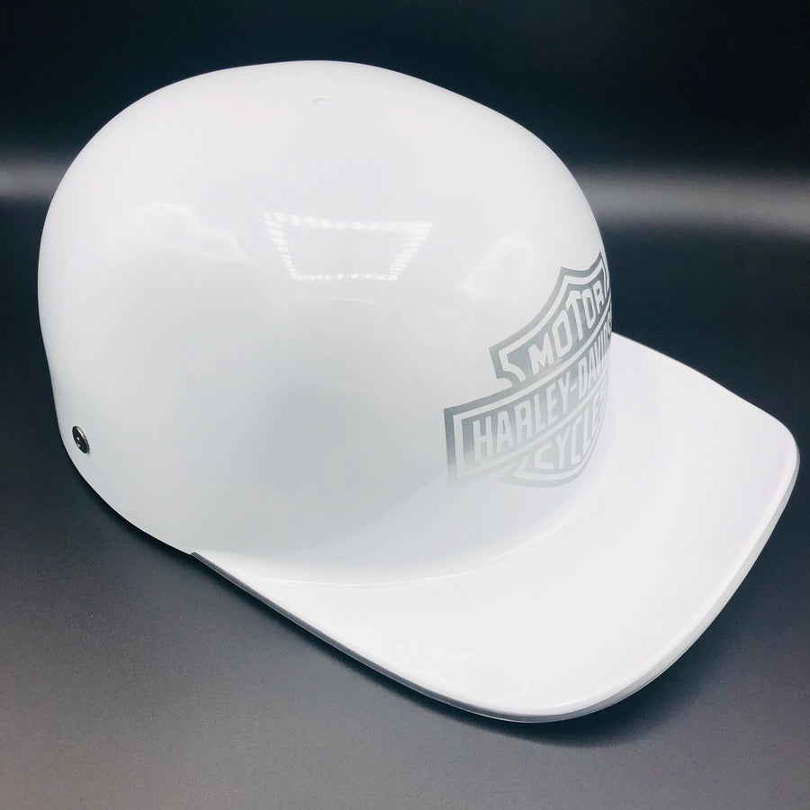 ****SOLD****Custom Painted Doughboy Lid - White Harley Davidson