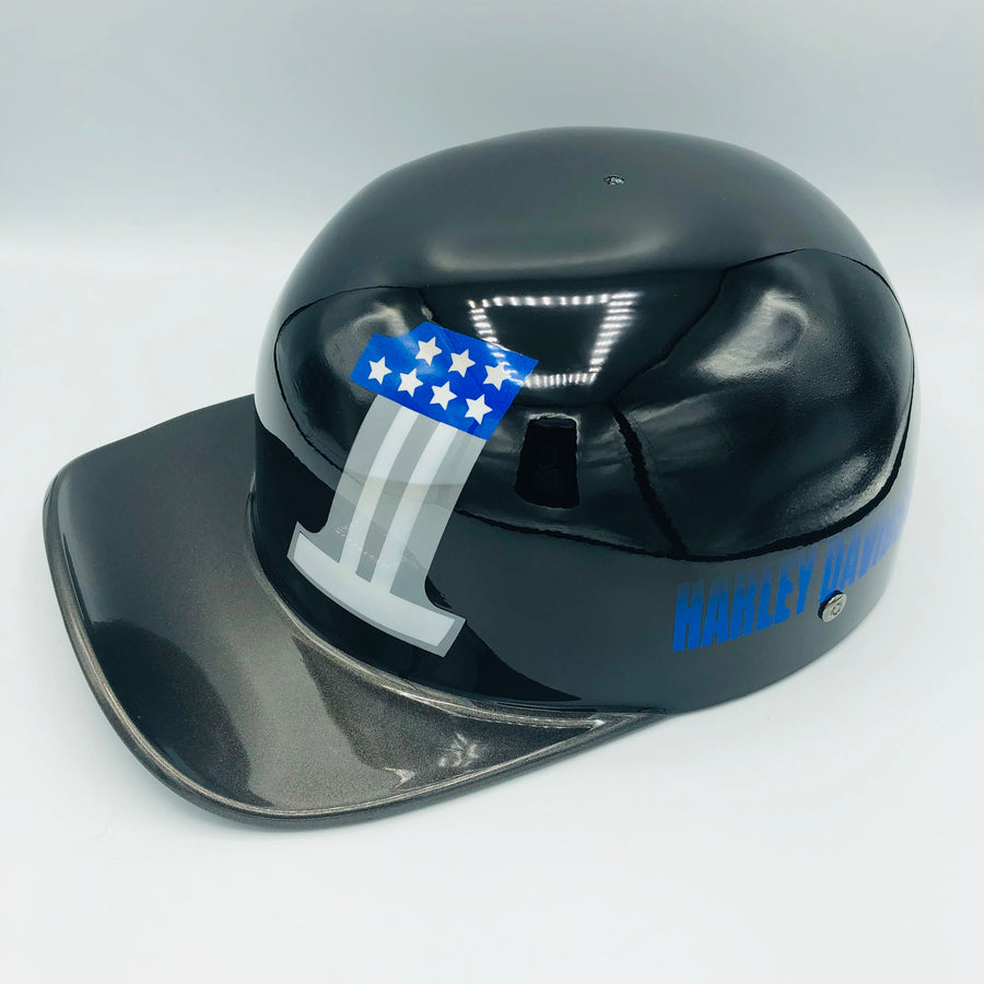 ***SOLD***Custom Painted Doughboy Lid - Harley Davidson Dark Custom