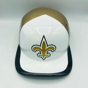 ***SOLD***Custom Painted Doughboy Lid - New Orleans Saints
