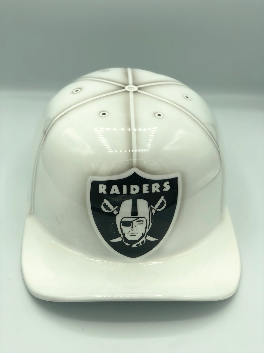 ***SOLD***Custom Painted Doughboy Lid - Oakland Raiders