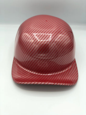Hydrodipped Doughboy - Red/Silver Carbon Fiber