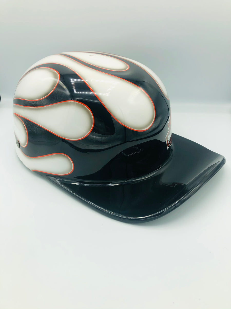 Custom Painted Doughboy Lid - Harley Davidson Flame