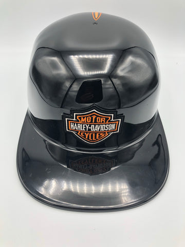 ***Sold Out***Custom Painted Doughboy Lid -  Harley Patch Orange Pinstriped