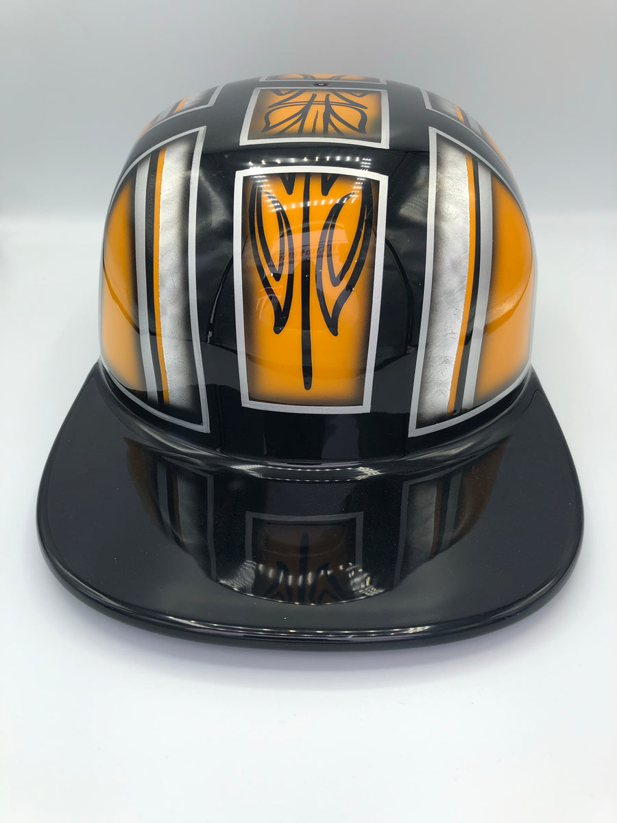 Custom Painted Doughboy Lid - Yellow/Orange Custom Design