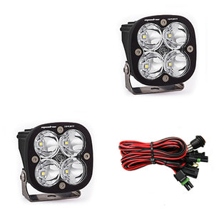 LED Light Pods Clear Lens Spot Pair Squadron Sport Baja Designs