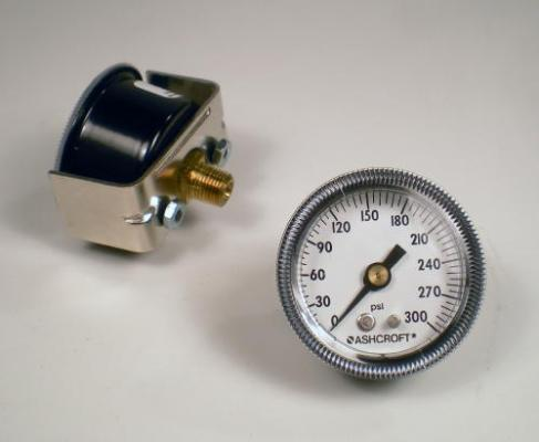 Panel Gauge 300 PSI 1.5 Inch Diameter 1/8 NPT Back Stem Power Tank