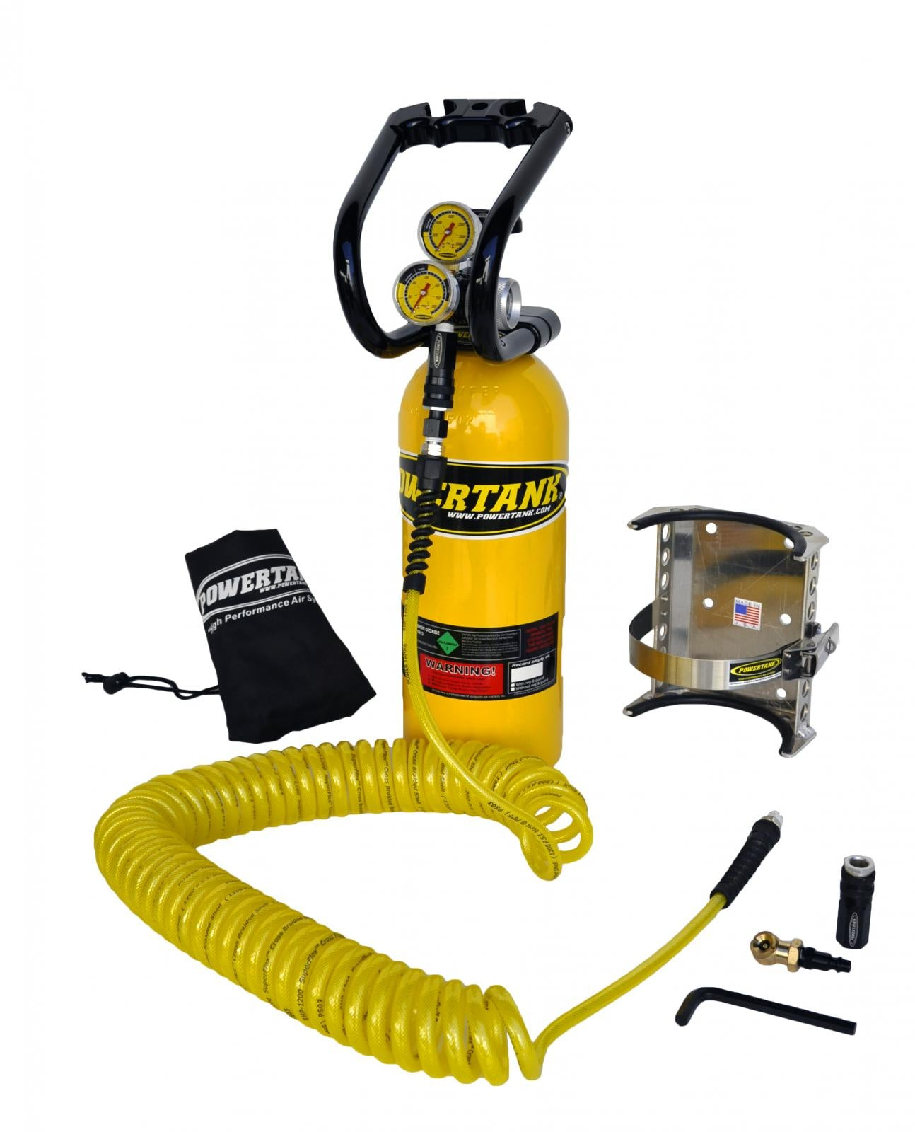 **Discontinued**CO2 Tank 5 LB Power Tank Package A System 250 PSI Team Yellow Power Tank