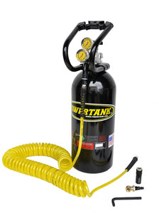 Portable Air Compressor 10 Lb 0-250 PSI Gloss Black Tank Basic System Power Tank