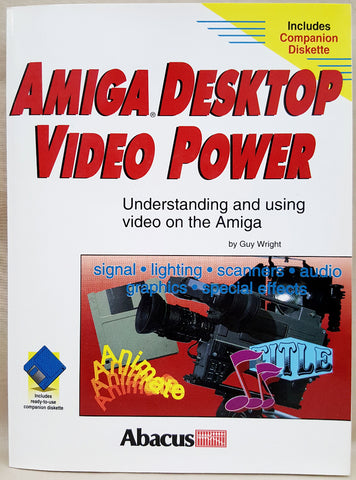 Amiga Desktop Video Power Abacus Book with Companion Disk for Commodore Amiga