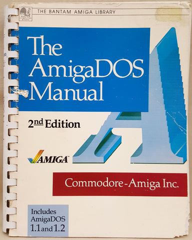 The AmigaDOS Manual 2nd Edition Book for Commodore Amiga