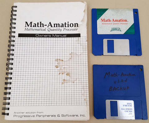 Math-Amation v1.0d Mathematical Quantity Processor by PP&S for Commodore Amiga