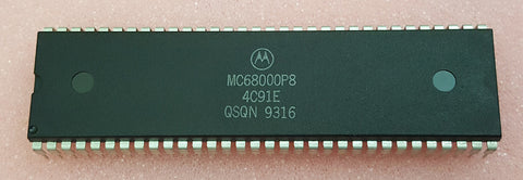 68000 7.16mhz Motorola 64 Pin CPU Commodore Amiga 500 2000 ATARI APPLE MACINTOSH