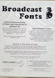 Broadcast Fonts 3D Master Packs 1-3 for Commodore Amiga Video Toaster LightWave 3D
