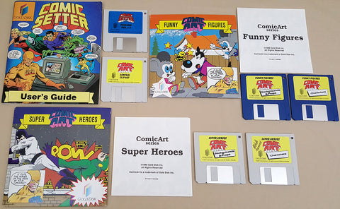 Comic Setter with Comic Art Packs ©1988 Gold Disk Inc for Commodore Amiga