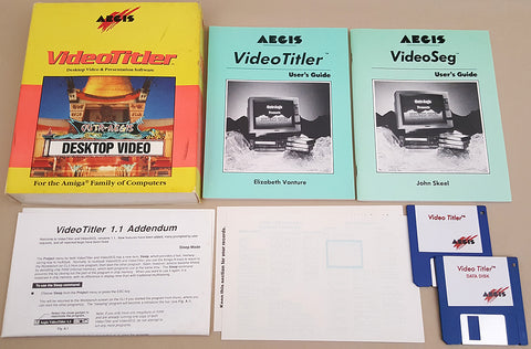 VideoTitler v1.1 ©1987 Aegis Development Desktop Video & Presentation Software for Commodore Amiga