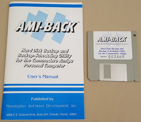 AMI-BACK v1.05a ©1991 Moonlighter Software for Commodore Amiga