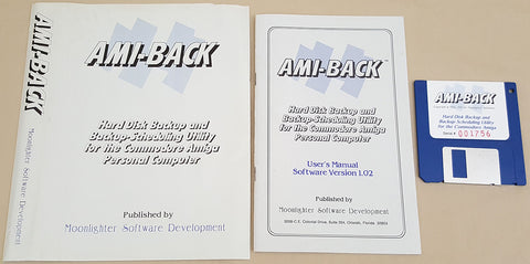 AMI-BACK v1.04c ©1991 Moonlighter Software for Commodore Amiga