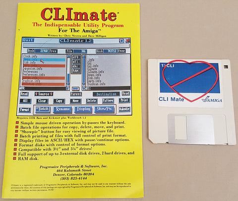 CLImate v1.2 ©1986 PP&S - Directory Utility for Commodore Amiga