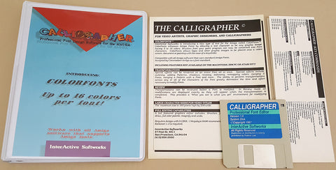 Calligrapher v1.0 Professional Font Editor ©1987 InterActive Softworks for Commodore Amiga