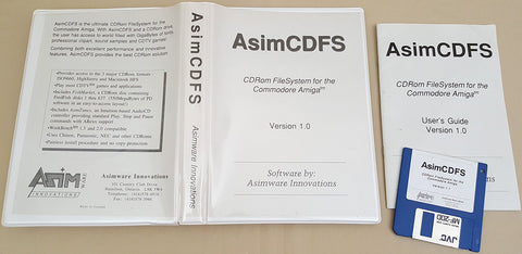 AsimCDFS v1.1c ©1992 Asimware Innovations for Commodore Amiga OS 1.3 2.x