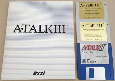 A-Talk III v1.3j ©1988 Oxxi Inc. ©1992 New Horizons Software for Commodore Amiga