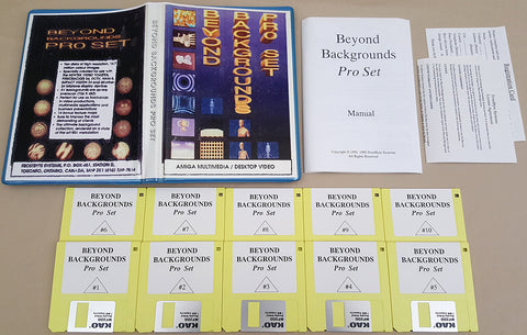 Beyond Backgrounds Pro Set ©1992 FrostByte Systems Multimedia/Desktop Video for Commodore Amiga