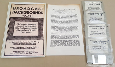 Broadcast Backgrounds Volume II ©1990 Gulfgate Technologies for Commodore Amiga