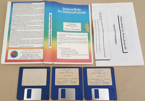 Deluxe Help for Deluxe Paint III ©1989 RGB Video Creations for Commodore Amiga